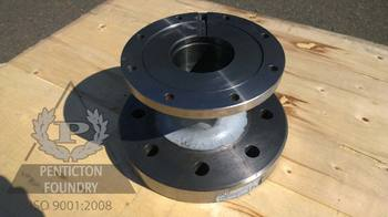 Ductile iron machined stuffing box.