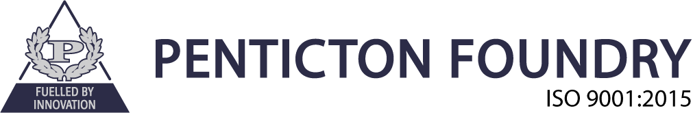 Penticton Foundry Logo – makers of castings in ductile and chrome white iron