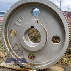 An ASTM A536 100 – 70 – 03 ductile iron high speed gear for a jack pump